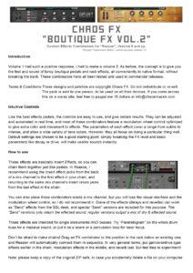 Boutique FX Vol 2 Manual